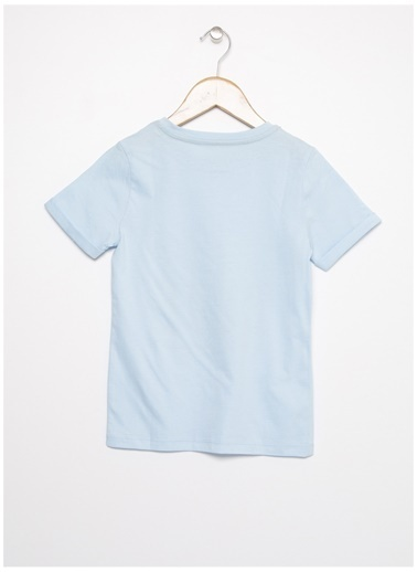 Limon Company Limon Açık Mavi Bisiklet Yaka Yazı Baskılı Erkek Çocuk T-Shirt Mavi